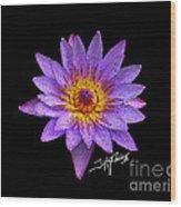 Dots Of Flowers Wood Print