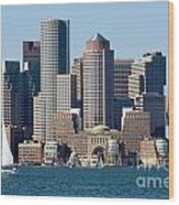 Downtown Boston Skyline Wood Print