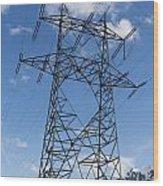 Electricity Pylon Wood Print