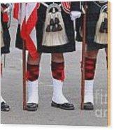 English Uniforms Wood Print