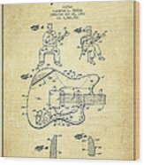 Fender Guitar Patent Drawing From 1960 Wood Print by Aged Pixel