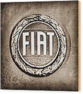 Fiat Emblem Wood Print