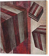 5 Fire Cubed Wood Print