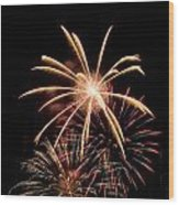 Fire Works Wood Print