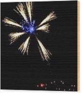 Fireworks In Neon Wood Print
