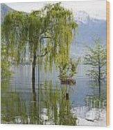 Flooding Alpine Lake Wood Print