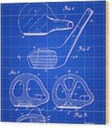 Golf Club Patent 1926 - Blue Wood Print