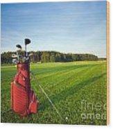 Golf Gear Wood Print by Michal Bednarek