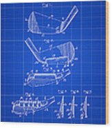 Golf Iron Patent 1914 - Blue Wood Print