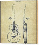 Gretsch Guitar Patent Drawing From 1941 - Vintage Wood Print by Aged Pixel