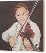 Gypsy Fiddler Wood Print