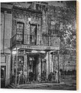 Historic Houston Black And White Wood Print