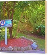 5 Hole Sign On  Golf Course 2 Wood Print