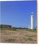 Hurst Point Lighthouse Wood Print