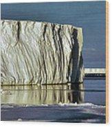 Iceberg In The Ross Sea Antarctica Wood Print