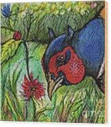 In My Magic Garden Wood Print
