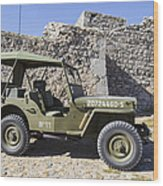 Jeep Willys Wood Print