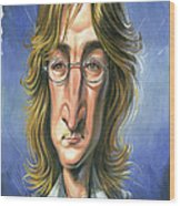 John Lennon Wood Print by Art