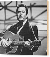 Johnny Cash Wood Print by Retro Images Archive