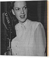 Judy Garland Wood Print