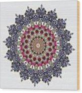 Kaleidoscope Colorful Jeweled Rhinestones Wood Print
