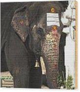 Lakshmi Temple Elephant Wood Print