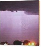 Late Evening Nebraska Thunderstorm Wood Print
