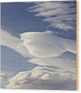 Lenticular Clouds Wood Print