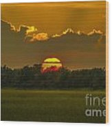 Lowcountry Sunset Over The Marsh Wood Print