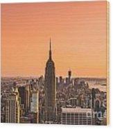 Manhattan - New York City - Usa Wood Print