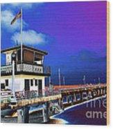 Manhattan Beach Pier Wood Print