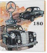 Mercedes 180 Wood Print