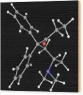 Methadone Drug Molecule Wood Print