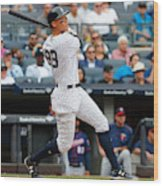 Minnesota Twins v New York Yankees Wood Print