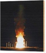 Minuteman IIi Missile Test Wood Print