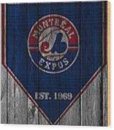 Montreal Expos Wood Print