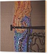 Mosaic Doorway Wood Print
