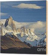 Mount Fitzroy, Argentina Wood Print
