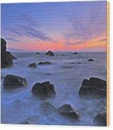 Muir Beach Sunset Wood Print