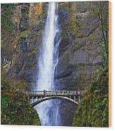 Multnomah Falls. Wood Print