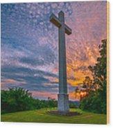 Nelsonville Cross Wood Print