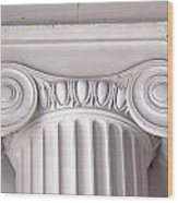 Neoclassical Ionic Architectural Details Wood Print