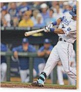 New York Yankees V Kansas City Royals Wood Print
