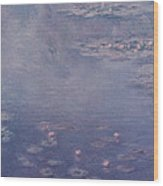 Nympheas Wood Print by Claude Monet