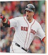 Oakland Athletics V Boston Red Sox Wood Print