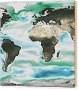 Ocean-atmosphere Co2 Exchange Wood Print