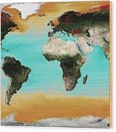 Ocean Carbonate Saturation Wood Print