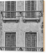 Old World Window Wood Print