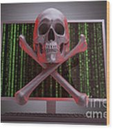 Online Security Wood Print