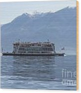 Passenger Ship On An Alpine Lake Wood Print